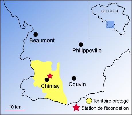 Situation de la zone protégée de Chimay